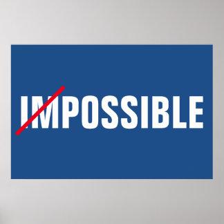 Pôster Sucesso inspirado impossível das possibilidades