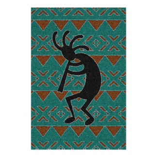 Pôster Sudoeste Kokopelli tribal