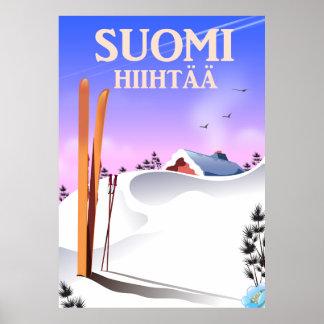 Pôster Suomi Hiihtää (Finlandia a esquiar)