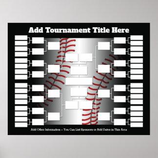 Pôster Suporte do competiam do basebol para 32 equipes