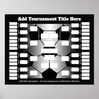 Poster Suporte do competiam do futebol para 32 equipes