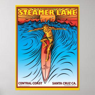 POSTER SURF SANTA CRUZ DE STEAMERLANE