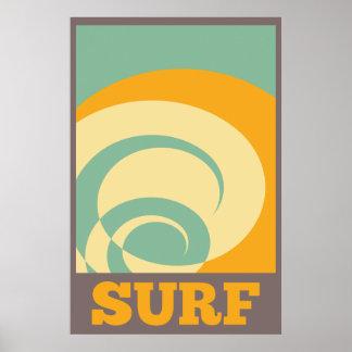Pôster Surf tribal retro