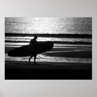 Poster Surfista na areia