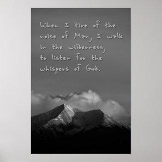 Poster Sussurros do deus