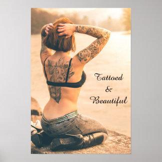 Poster Tattooed e bonito
