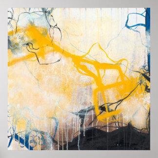 Poster Tempestades - expressionism abstrato quadrado