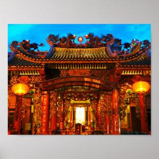 Pôster Templo chinês