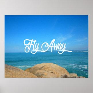Poster Tempo de viagem ausente da mosca