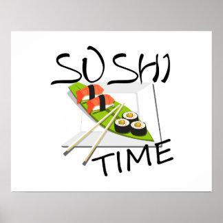 Poster Tempo do sushi