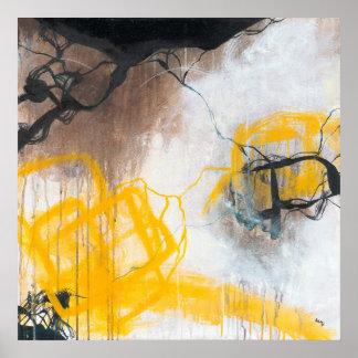 Pôster Tensão - expressionism abstrato quadrado