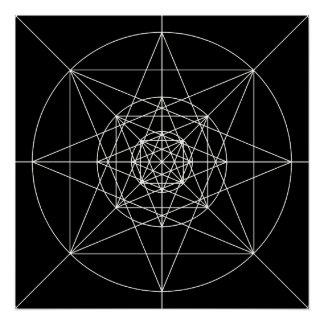 Pôster Terceira geometria sagrado dimensional