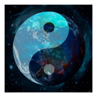 Pôster Terra Yin Yang