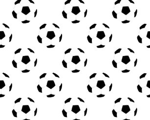 Arte e Decoração de Parede Bola De Futebol Preto E Branco  bd626728b101c