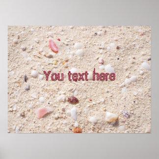 Poster Textura da areia