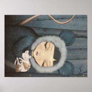 Poster The Mouse little Princess - Kunstdruck