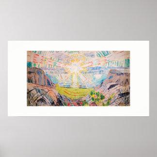 Poster The Sun por Edvard Munch