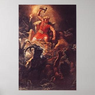 Pôster Thor, deus dos Viquingues