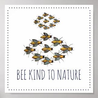Poster Tipo da abelha à natureza