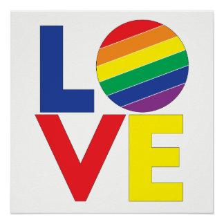 Pôster Tipografia alegre do amor