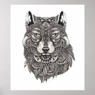 Poster tirado mão do lobo