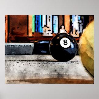 Poster Tiro para a bola oito