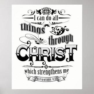 Poster Todas as coisas através da camisa cristã do