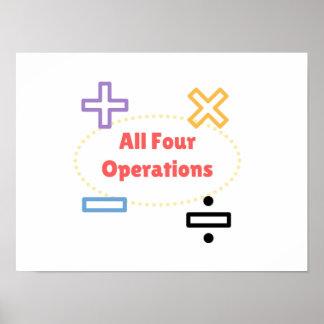 Poster Todas as quatro operações