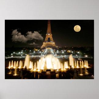 Pôster Torre Eiffel na noite