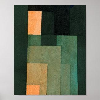 Pôster Torre na laranja e no verde: Paul Klee 1922