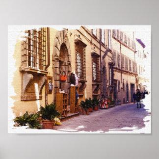 Poster Toscânia. Italia. Cortona