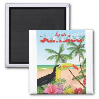 Poster toucan da praia de Jamaica Ímã Quadrado