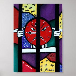 Pôster Trabalhos de arte abstratos coloridos da