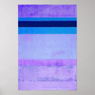 """Poster Trabalhos de arte abstratos """"congelados"""" do roxo e"""