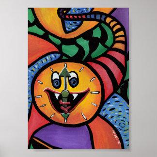 Pôster Trabalhos de arte coloridos dos muitos tempos