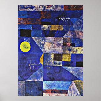 Pôster Trabalhos de arte de Paul Klee, luar