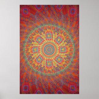 Poster: Trabalhos de arte espirais psicadélicos do Poster