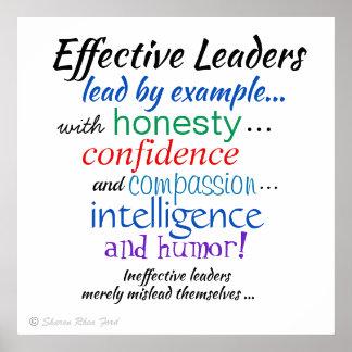 Poster Traços de caráter dos líderes eficazes por SRF