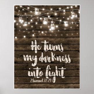 Poster Transforma minha escuridão na luz