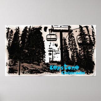 Poster trapezóide do deco de Colorado