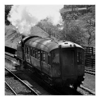 Pôster Trem do vapor com poster da carruagem