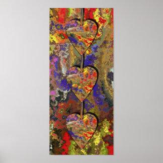 Poster Três corações
