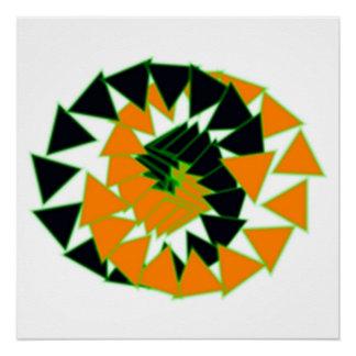 Pôster triângulos