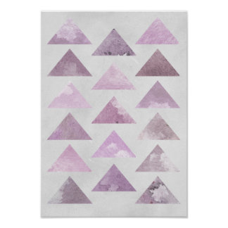 Pôster Triângulos cor-de-rosa