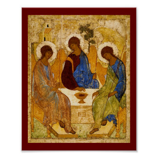 Poster Trindade de Rublev na mesa