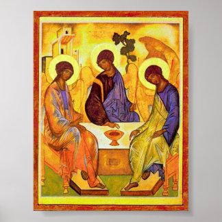 Poster Trindade santamente por Andrei Rublev. Grande titl