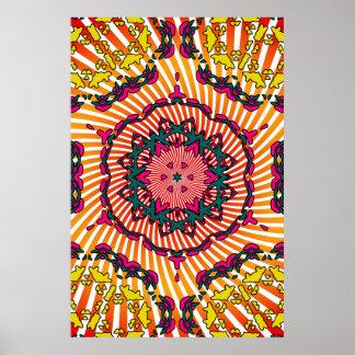 Poster Trippy: Trabalhos de arte psicadélicos do c