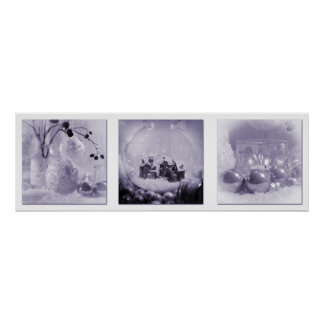 Poster Triptych das matiz do Natal