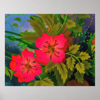 Poster tropical da flor
