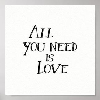Pôster Tudo que você precisa é amor